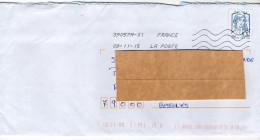 """2015--tp  """"Marianne Ciappa Kavena 20g Europe """"seul Sur Lettre--Nouvelle Toshiba 390570A-01 -affrt France Erroné - Storia Postale"""
