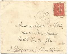 AMBULANT DE REDON A RENNES DU 30/8/1932 - Marcophilie (Lettres)