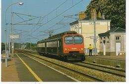 SARTHE N° 13  Train Automotrice Z 9601 Scan Recto Verso, Explications Au Dos Tirage 1000 Exemplaires - Treinen