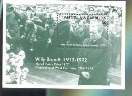 MNH ANTIGUA & BARBUDA #1688 : SOUVENIR SHEET WILLY BRANDT WARSAW GHETTO MEMORIAL - Antigua And Barbuda (1981-...)