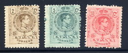 Spain  Sc#  297-299  MH      1909 - 1889-1931 Regno: Alfonso XIII