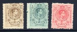 Spain  Sc#  297-299  MH      1909 - 1889-1931 Kingdom: Alphonse XIII