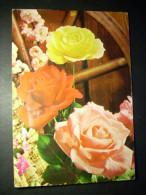 89 FLORES FLOWERS ROSAS PINKS ROSES POSTCARD POSTAL AÑOS 70 ESCRITA - TENGO MAS POSTALES - Flores