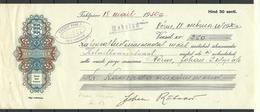 Estonia Estonie 1930 Wechselpapier 250 Kronen Kredit Bank Võru - Estonia