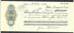 Estonia Estonie 1930 Wechselpapier 250 Kronen Kredit Bank Võru - Estonie