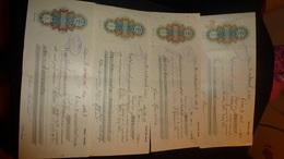 Estonia Estonie 1930/32 Wechselpapiere 50 & 100 & 250 & 500 Kronen Kredit Bank Võru - Estonie