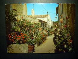 93 CALLE DE FLORES FLOWERS RUELLE FLEURIE DE I´LLE POSTCARD POSTAL AÑOS 60/70 ESCRITA - TENGO MAS POSTALES - Flores