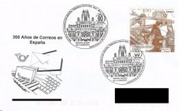 SPAIN. POSTMARK 300th ANNIV. CORREOS. ZARAGOZA 2016 - FDC