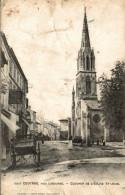 COUTRAS PRES LIBOURNE  CLOCHER DE L EGLISE ST JAEN - Non Classés