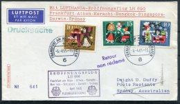 1965 Germany Lufthansa First Flight Cover. Frankfurt - Sydney Australia - [7] Federal Republic
