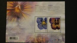 Canada 2809 Flora Pansies Souvenir Sheet Block Cancelled 2015 A04s