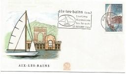 1 ER JOUR FLAMME AIX LES BAINS 1965 - Marcophilie (Lettres)