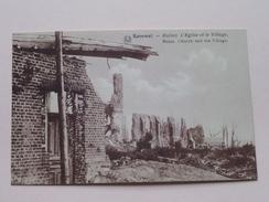 L'Eglise Et Le Village ( Ruines ) Kemmel / Anno 19?? ( Details Zie Foto´s ) !! - Heuvelland