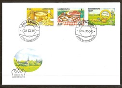 Luxembourg Luxemburg 2004 Yvertn° 1599-1601 (°) Used FDC  Cote Des Timbres 5 Euro - FDC