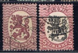 SF+ Finnland 1918 Mi 98 102 Löwe
