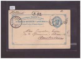 USA - GANZSACHE - CARTE ENTIER POSTAL - PLI DIAGONAL - Enteros Postales