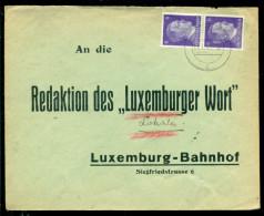 Deutsches Reich 1943 Umschlag Stempel Esch-Alzig (Luxemburg) - Briefe U. Dokumente