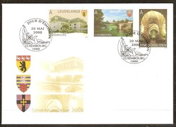 Luxembourg Luxemburg 2008 Yvertn° 1728-1730 (°) Used FDC  Cote Des Timbres 4,50 Euro Tourisme - FDC