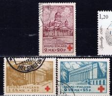 SF+ Finnland 1932 Mi 173-75 Helsinki