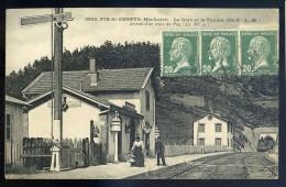 Cpa Du 43  Fix St Geneys -- La Gare Et Le Tunnel -- Arrivée D'un Train Du Puy  JIP99 - Otros Municipios