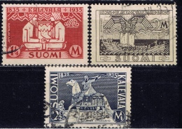 SF+ Finnland 1935 Mi 191-93 Kalevala