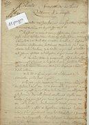 VP6646 - PARIS - Acte De 1822 - Obligation Par P.V.de TOCQUEVILLE Capitaine à Vve De LA BAULINE - Biens Situés à GUEURES - Manuscrits