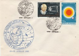#BV6203 HENRI COANDA, ASTROLOGY, AEROPHILATELY,SPECIAL COVER WITH STAMPS, OBLITERATION CONCORDANTE,1985,ROMANIA. - Astrology