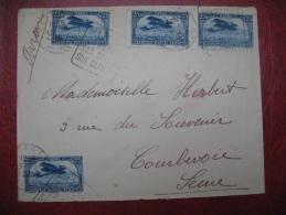Lettre Maroc 1926 Pour France Obl Daguin De Mazagan - Maroc (1891-1956)