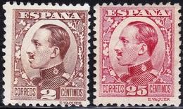 1930 490 + 495 ALFONSO XIII VAQUER DE PERFIL MH PERFECTO SPAIN SPANIEN ESPAGNE SPANJE - Nuevos