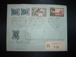 LR TP D'ORNANO 15F+5F + RAISINS 20F + ALGER 5F X3 OBL.11 JANV 1951 ALGER JOURNEES COLONNA D'ORNANO - Covers & Documents
