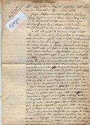 VP6649 - PARIS X DIEPPE - 1829 - Entre Mr P.V.de TOCQUEVILLE & DUFOUR à THORIGNY Acte De Société Papeterie à GUEURES - Manuscrits