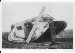 Juillet 1916 Somme Cambrai Char Anglais Mark IV Femelle Toit Anti Grenades Roues De Franchissement  1photo 14-18 Ww1 Wk1 - War, Military