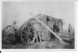Decembre 1916 Somme Cambrai Char Anglais Mark IV Femelle Toit Anti Grenades Roues De Franchissement 1photo 14-18 Ww1 Wk1 - War, Military