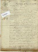 VP6652 - PARIS Acte De 1830 - Procuration Par Mr DUFOUR Aux BATIGNOLLES Près PARIS à Son épouse - Papeterie De GUEURES - Manuscrits