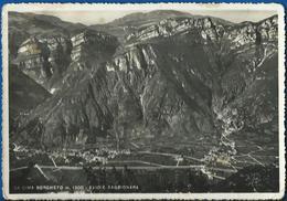"""Avio E Sabbionara Viste Da Cima Borghetto. Timbro """"Albergo Alpino"""" VG 1955 - Altre Città"""