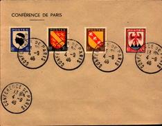 Lettre, Conference De Paris, 1946. - Postmark Collection (Covers)