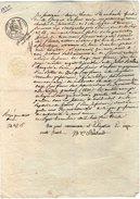 VP6654 - PARIS - Acte De 1830 - Mme DUFOUR Aux BATIGNOLLES MONCEAUX - Papeterie De GUEURES - Manuscrits
