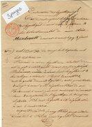 VP6659 - Acte De 1831 - Hypothèques De MONS - Mme DUFOUR à GUEURES & LAGNY ( France ) - Manuscrits