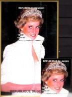Porträt Diana Mit Perlen 1997 Niger A1424+ Block E 110 ** 14€ Lady Di Hb Blocs M/s Flower Princess Of Wales Sheets Bf UK