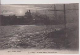 """44 LOIRE ATLANTIQUE NANTES""""  Les Glaces Sur Loire Au Clair De Lune Janvier 1914 """"  Nozais N°51 - Nantes"""