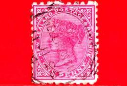 NUOVA ZELANDA - New Zealand - Usato - 1882 - Regina - 1 Penny - 1855-1907 Crown Colony