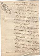 VP6668 - PARIS  - Acte De 1840 - Entre Mme BOUZEMONT à LAGNY & MULER Manufacturier à GUEURES - Manuscrits