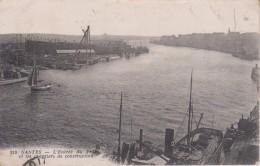 """44 LOIRE ATLANTIQUE NANTES  """"  Entrée Du Port Et Les Chantiers De Construction """" Nozais  N° 213 Plan Rechercher - Nantes"""