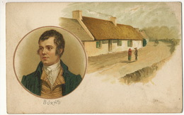 Robert Burns Art Card Born In Alloway Poet Poete - Ayrshire