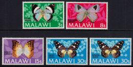 E0069 1973, SG429-433 Butterflies (ncluding SG 432 - Error In Inscription)  MNH - Malawi (1964-...)