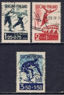 SF+ Finnland 1938 Mi 208-10 Skisport