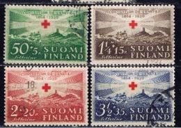 SF+ Finnland 1939 Mi 217-20 Rotes Kreuz