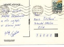 L1823 - Czechoslovakia (1990) 351 01 Frantiskovy Lazne (postcard) Tariff 50h; Stamp Biennale Of Illustrations Bratislava