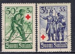 SF+ Finnland 1940 Mi 222 225 Soldaten