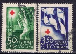 SF+ Finnland 1941 Mi 233 236 Rotes Kreuz